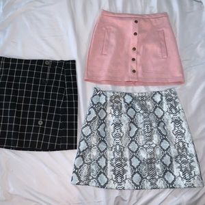 Three Forever 21 skirts